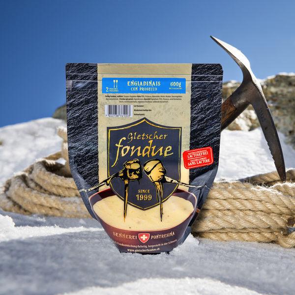 Gletscherfondue Engiadinais cun Prosecco