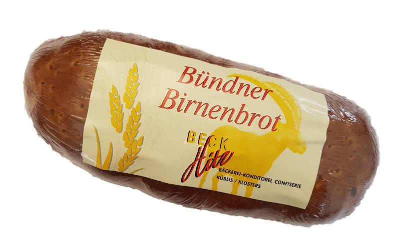 Bündner Birnenbrot, Bäckerei Hitz
